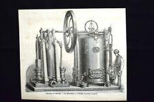 Apparecchi motori - Macchina a vapore di Hermann-Lachapelle Incisione del 1870