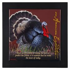 American Expedition Wood Framed Trivet TURKEY  7.5 in X 7.5 in NEW FREE SHIP