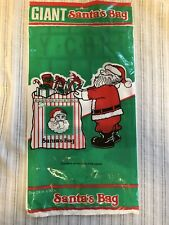 GIANT PLASTIC Santa's GIFT BAG 24 X 30. New