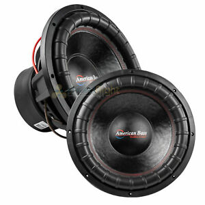 "American Bass XFL-1544 15"" Subwoofer Dual 4 Ohm 2000 Watts Max Car Audio 2 Pack"