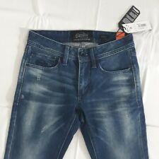 SuperDry Vintage Slate Blue Distress Ladies Women Skinny Jeans 28 W 32 L