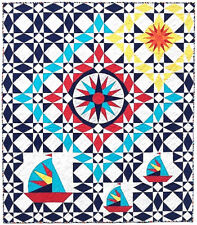 """New Pieced Quilt Pattern Smooth Sailing 76"""" x 88"""""""