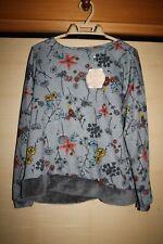 Top Bluse Lang Tunika aus Japan Super Hübsch Gr.M/L bequem NEU mit feiner Blumen