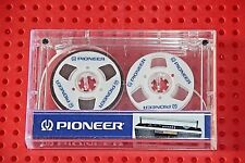 "UNIQUE CUSTOM-MADE ""PIONEER""     WHITE   NEW BLANK CASSETTE TAPE (1)"