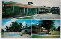 Savannah Georgia Old South Manor Motor Court & Restaurant Motel Vtg Postcard A9