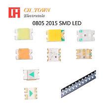 50 100pcs 0805 2012 SMT SMD LED Emitting Diodes White Blue RGB Light Lamp Bulb