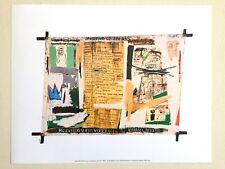 """JEAN MICHEL BASQUIAT ESTATE ORIGINAL FINE ART PRINT """" JAWBONE OF AN ASS """" 1982"""