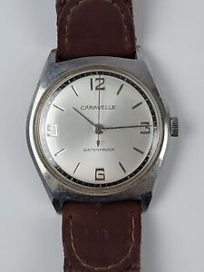 Vintage Caravelle 1967 M7 Wind Up Men's Watch Works Great 34mm Clean Face