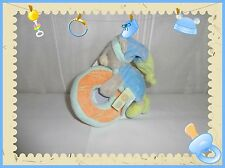 "X - Doudou Hochet Ours Gris Vert Bleu Orange  ""Gourmandises"" Grelot Baby Nat"