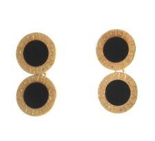 Bvlgari Bulgari 18K Yellow Gold Black Onyx Round Chain Cufflinks 12.58 Grams