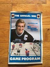 Wayne Gretzky's Kevin Sports NHL Overtime Table Hockey Game Program