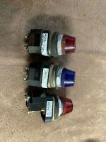 Allen Bradley 800T-P16 (2)Red (1) Blue Illuminated Button /  800TP16
