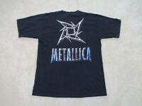 VINTAGE Metallica Concert Shirt Adult Extra Large Black 1996 Tour Rock Mens 90s