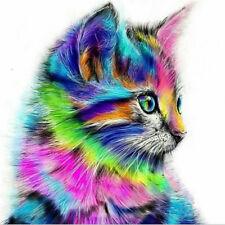 Cat 5D Full Diamond DIY Painting Craft Embroidery Cross Stitch Kit Home DecorCS