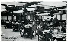 Buena Park California~Knott's Berry Farm~Interior Dining Room Tables~1950s RPPC