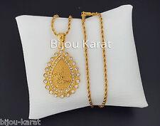 Türkisches Gold Altin Ceyrek Tugra Gold Oval Münze inkl Kette 24 Karat GP Dügün