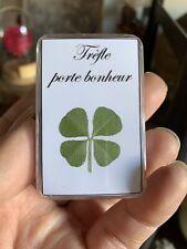 1x Boite Veritable Trefle a 4 Quatre feuilles / Genuine Four leaf Clover!!
