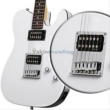 Chrome Tele Humbucker Electric Guitar Bridge 6 Saddle for Telecaster Guitar New