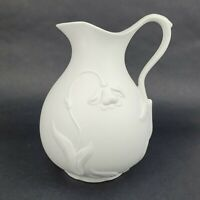 Vintage 1993 MMA Metropolitan Museum Of Art Jonquil White Parian Bisque Pitcher