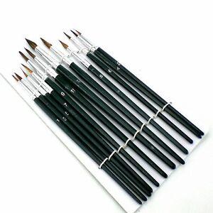 12 Artist Paint Brushes ideal model making Hornby Revell Airfix Tamiya Kit, UK
