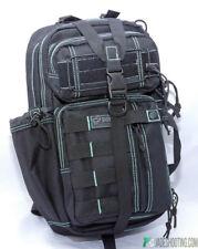 DDT Assassin Black Teal Tactical Sling Bag Hiking Pack Gear Molle Ice Blue Aqua