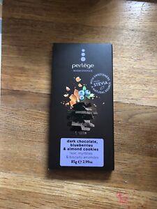 Perlege Belgian Dark Chocolate Blueberries & Almond Cookies Stevia  85g Diabetic