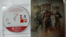 FOR HONOR PS4 PROMO Game Rare + For Honor Steelbook PlayStation 4 Promotional