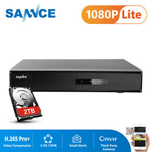 SANNCE 16CH 5IN1 H.265 Pro+ DVR Recorder for Home Security System APP Push 2TB