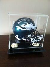 Philadelphia Eagles Donovan McNabb Signed Mini Helmet And  Custom Case Wow