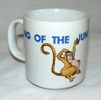 Russ 8 oz. Porcelain King Of The Jungle Mug Cup HTF Monkey Lion #8016
