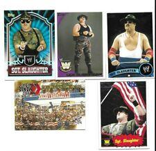 TOPPS WWE 5 SGT SLAUGHTER WRESTLING CARDS