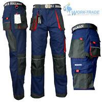 Arbeitshose Bundhose Arbeitskleidung Herren Hose Blau Schwarz Rot Gr. 46 - 62