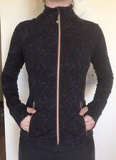 Lululemon Size 4 Baroque Purple Black Define Forme II Jacket Rose Gold Zipper