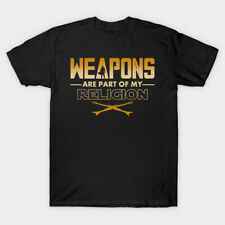 Weapons are part of my religion Men Black Tshirt Size S-2Xl