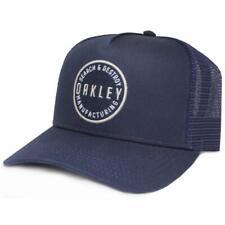 Oakley Ringer Adjustable Trucker Cap Navy Blue Mens Snapback Logo Baseball Hat