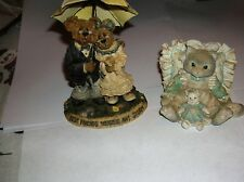 Enesco Calico Kittens & Boyds Bears & Freinds The bearstone Collection.vgc