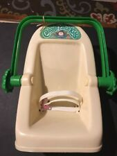 VTG 1983 COLECO CABBAGE PATCH KIDS DOLL BABY CARRIER CAR SEAT TOY WITH BELT