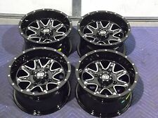 "12"" KAWASAKI BRUTE FORCE 750 ALUMINUM ATV WHEELS NEW SET 4-LIFETIME WARRANTY T4"