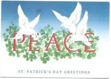 Ireland 1992 - St Patrick's Day Pc Wicklow to Dublin. Doves of Peace. Shamrock