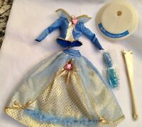 BARBIE'S Princess Fashion With Free Stand! Mattel No Box!