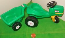 LITTLE TIKES VINTAGE DOLLHOUSE FAMILY BACKYARD FARM TRACTOR TRAILER FURNITURE