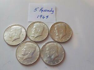 5   1964   Kennedy    Half-Dollars  Silver