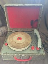 Vintage 1950's Firestone Portable Record Player Plays 33 45 78 •Needs Needle•