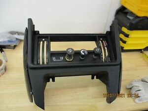 Triumph TR7 Center Console Dash Bezel - Includes Knobs knee pads black oem used