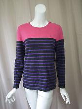 J.Mc Laughlin Striped 3/4 Sleeve Sweater top size L