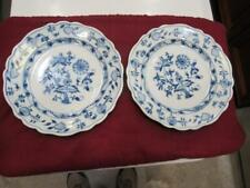 "2 Vintage Meissen Blue Onion Plates 9 """