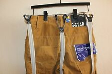 G-STAR RAW Arc 3D Loose Tapered Braces COJ Khaki Chino Pant Suspenders Tan 29x32