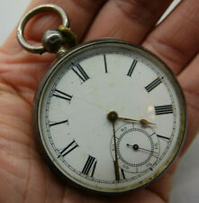 VERY OLD HALLMARKED SILVER WALTHAM POCKET WATCH - L@@K