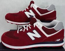 New Balance Mens 18 Maroon Suede Leather Run Shoes ML574CPB $80 D Width