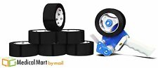 """48 Rolls Black Color Carton Packing Tape 3"""" x 55 Yards 2Mil with Free Dispenser"""